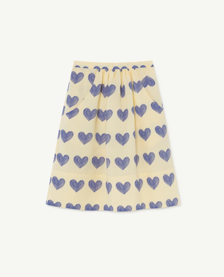 Sow Kids Skirt Yellow Hearts