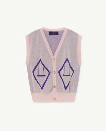 Bat Kids Vest Soft Pink