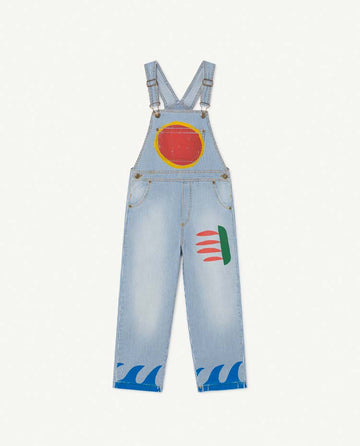 Stripes Mule Kids Dungaree Indigo Sun