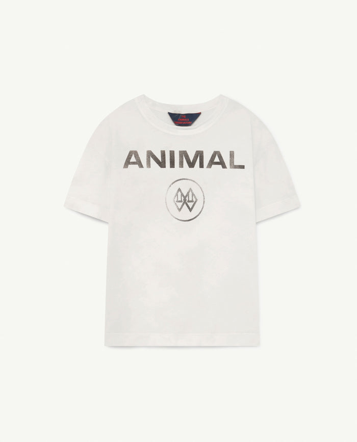 Rooster Kids+ T-Shirt White Animal