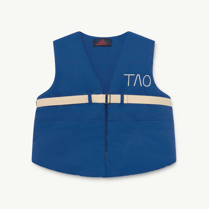 Lamb Kids Vest Blue Tao