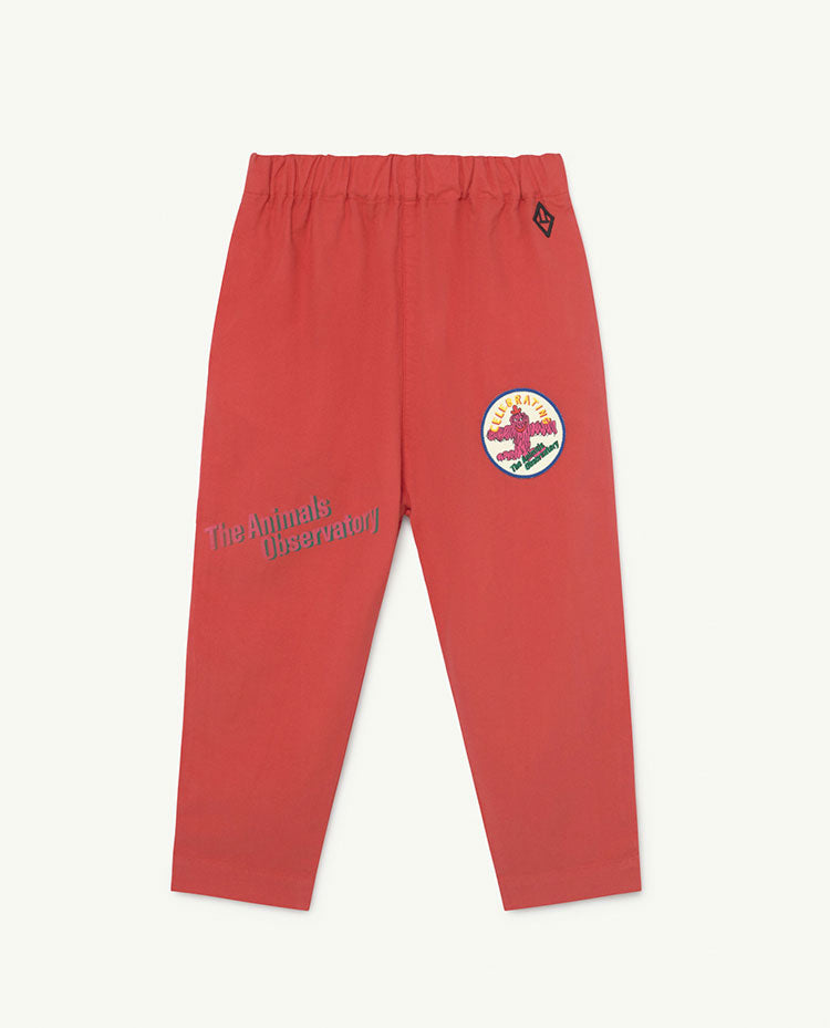 Elephant Kids Trousers Red The Animals