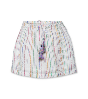 Lurex Stripe Skirt - Natural
