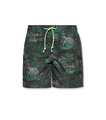 Jungle Swim Shorts Dark Olive
