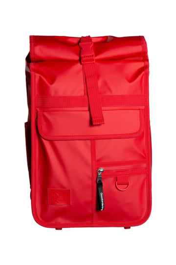 Monochrome Mini Rolltop Backpack Red