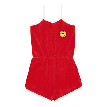 Terry Cloth Playsuit Rouge