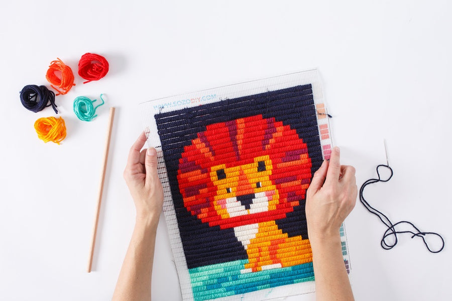 Lion Wall Art Embroidery Kit