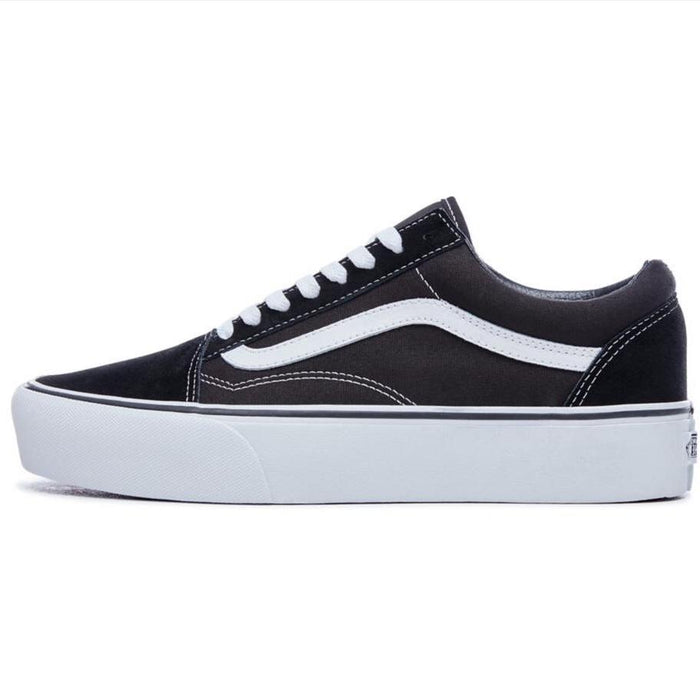 VANS Old Skool Platform - (Suede/Canvas) Black-White