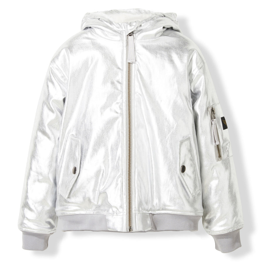 BALTIMORE Silver -  Woven Hooded Jacket