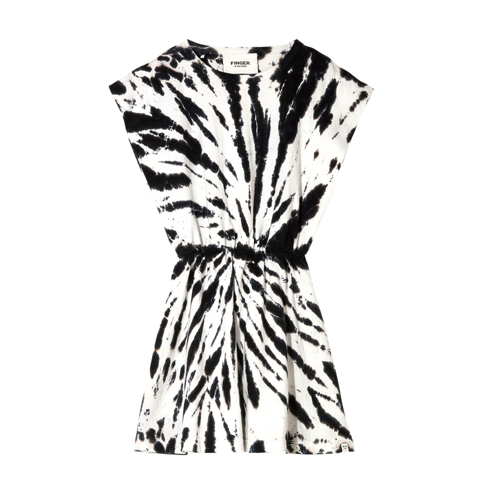 BILLIE Black/White Tie & Dye - Sleeveless Dress