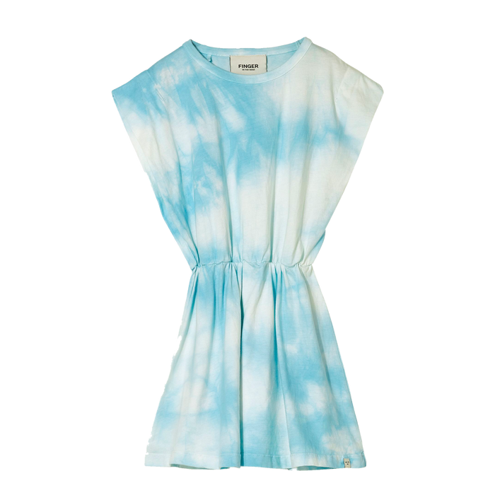 BILLIE Cloud Blue Tie & Dye - Sleeveless Dress