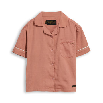 Blair Grey Pink - Short Sleevess Shirt