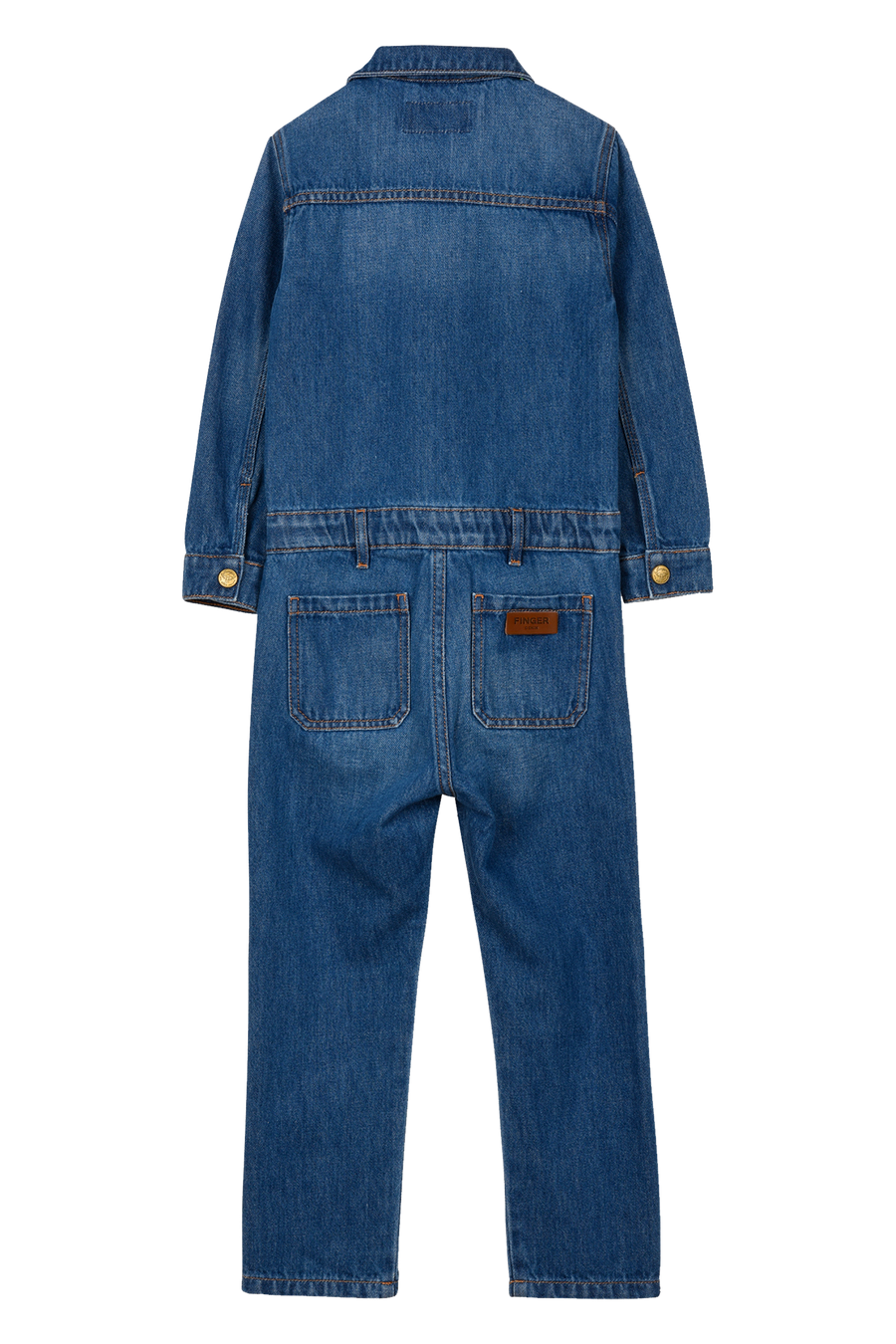 Finger in the Nose - Jumpsuits / Overalls - BROOK Blue Denim - Long Sleeve Jumpsuit