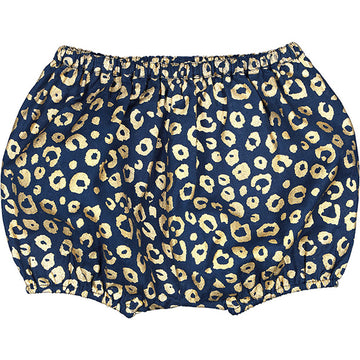 Bloomer London Twill Leopard Glitter Navy