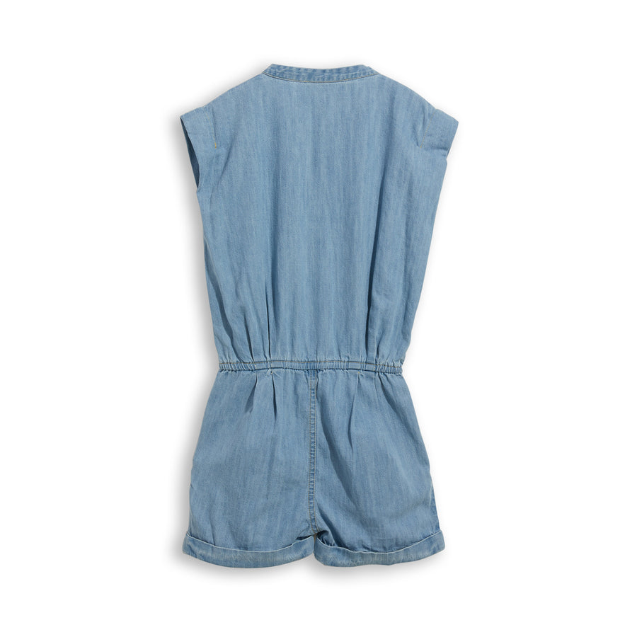 Cara Bleached Blue - Short Jumpsuit