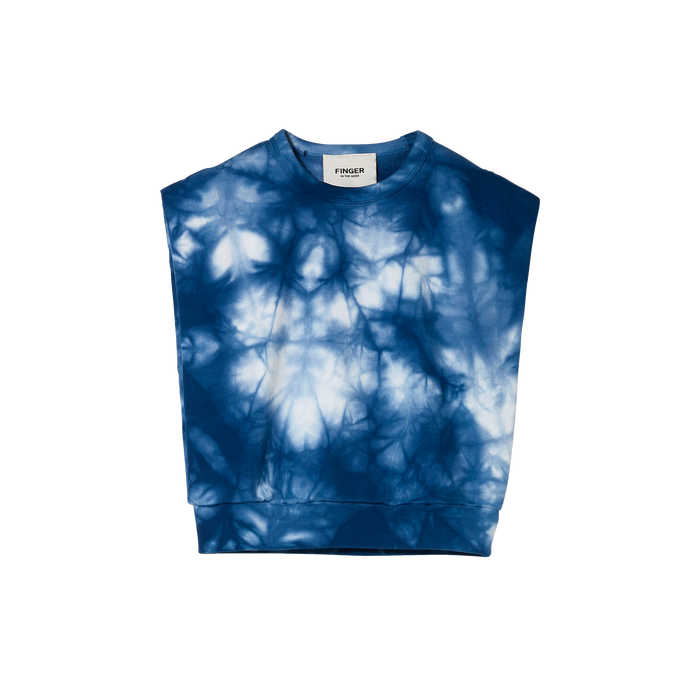 CAROL Work Blue Tie & Dye - Sleeveless Sweater