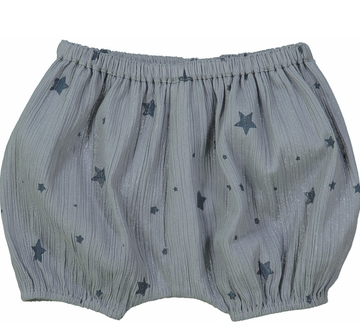 Bloomer London Blue Cotton Crepe Stars