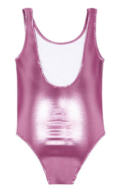 Shiny Swimsuit Rose Fuschia