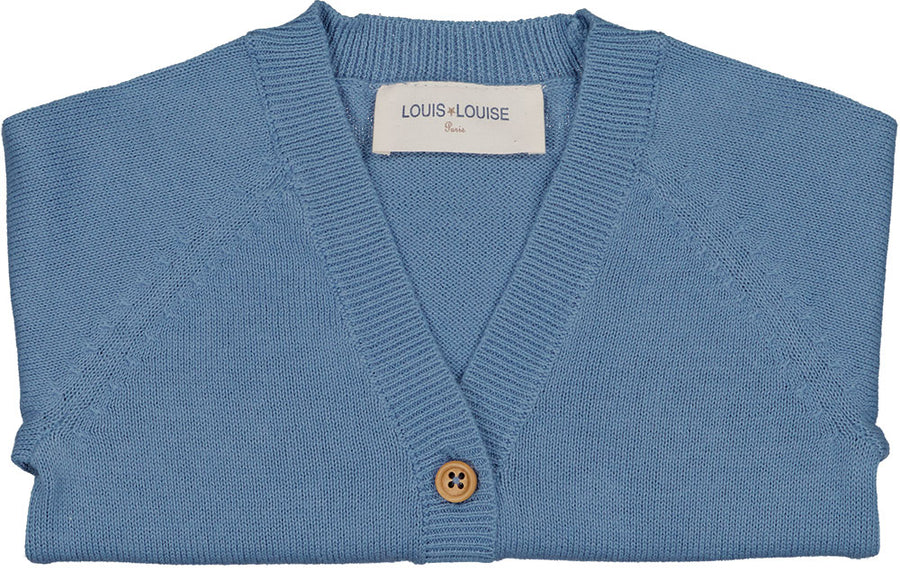 Cardigan Hubert Knitted Cotton Blue