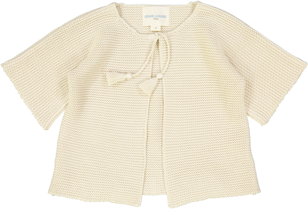 Cardigan EDITH - Knitted Cotton Cream