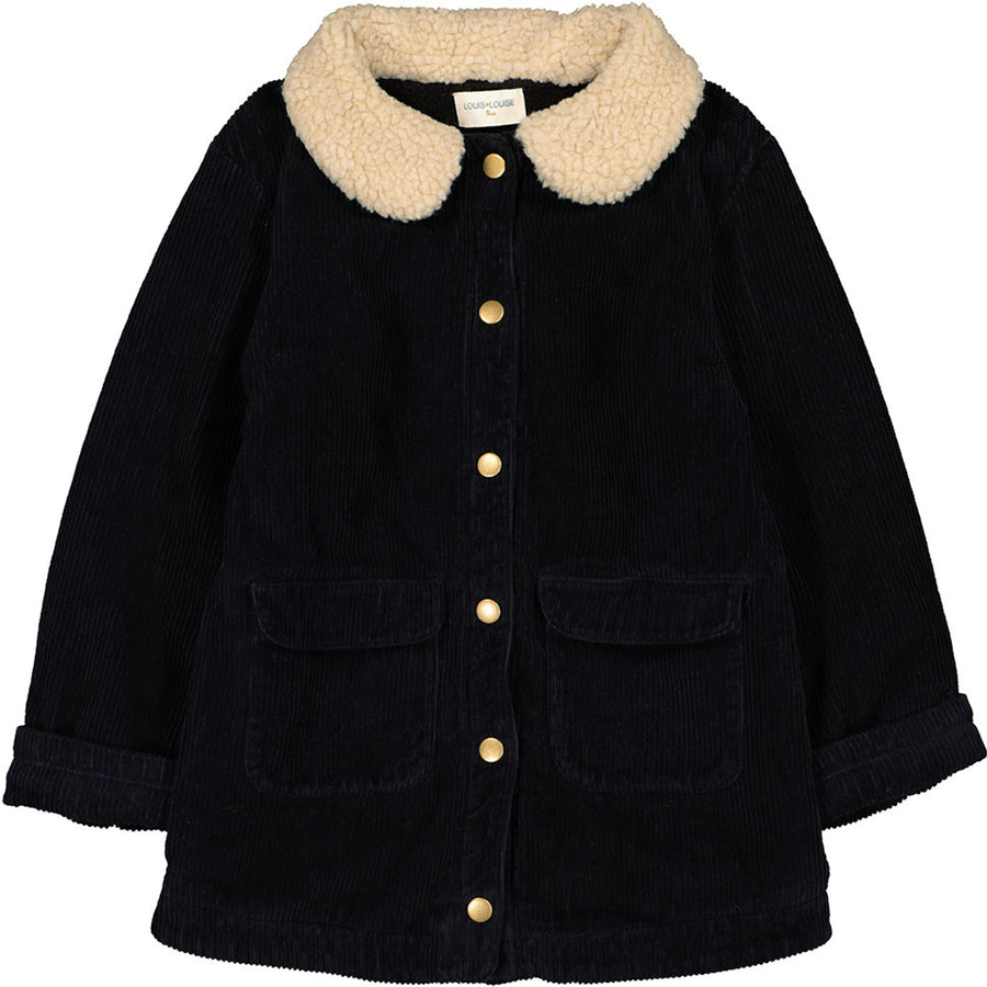 Coat Jackie Big Corduroy Black