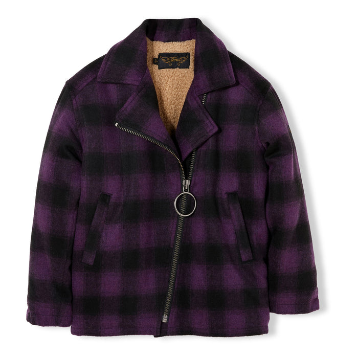 Darkstar Violet Checks - Oversized Jacket