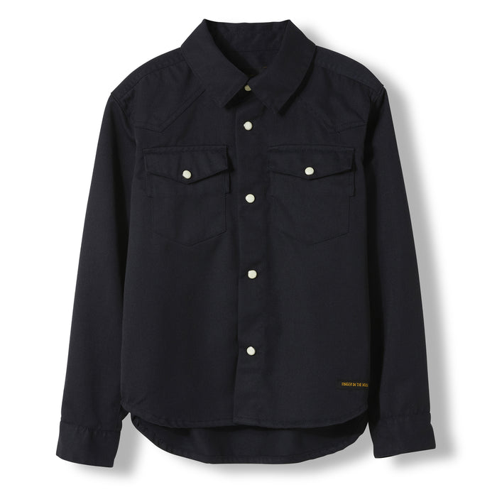 DUSK Night Blue -  Woven Long Sleeve Shirt