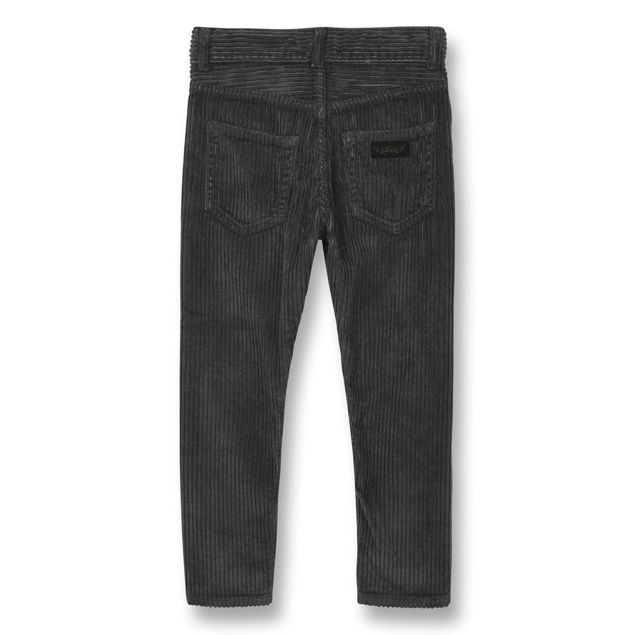 Ewan Convoy Grey Jumbo Cord - Boy Woven 5 Pockets Comfort Fit Pants