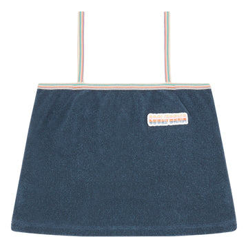 Terry Cloth Top Bleu Chiné