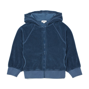 Coconut Pwr Terry Cloth Zip-Up Sweatshirt Bleu Chiné