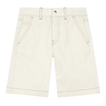 Long Denim Bermuda Shorts Mastic