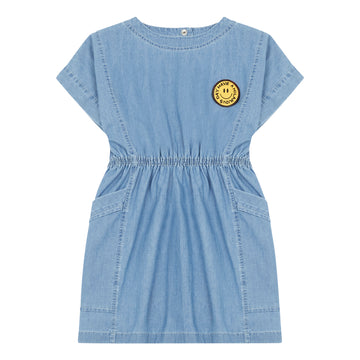 Chambray Mini Dress Denim Bleached