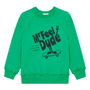 Mr Feel Dude Sweatshirt Vert Prairie