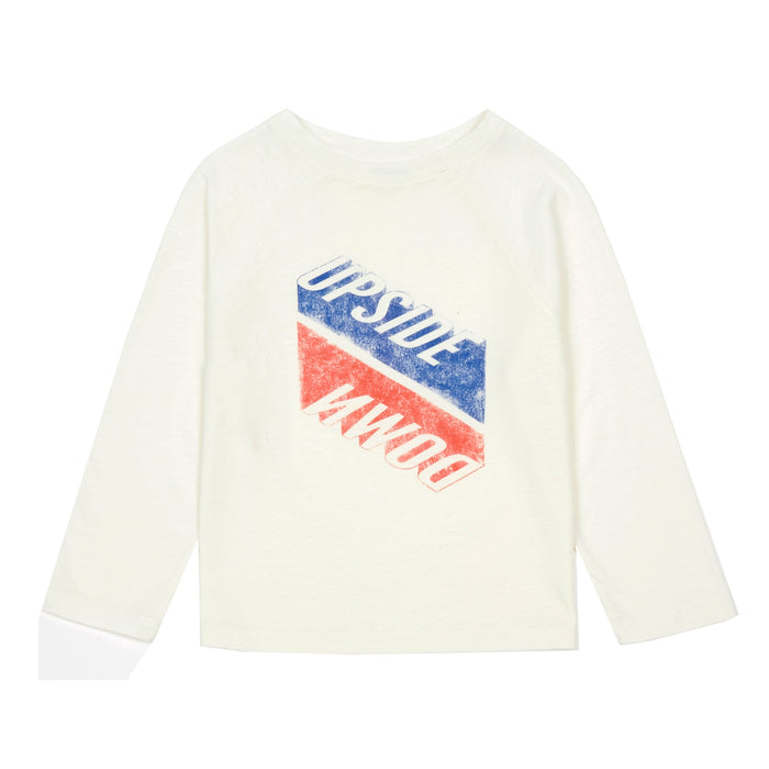T-Shirts Coton Organique Upside Down Finn Ecru