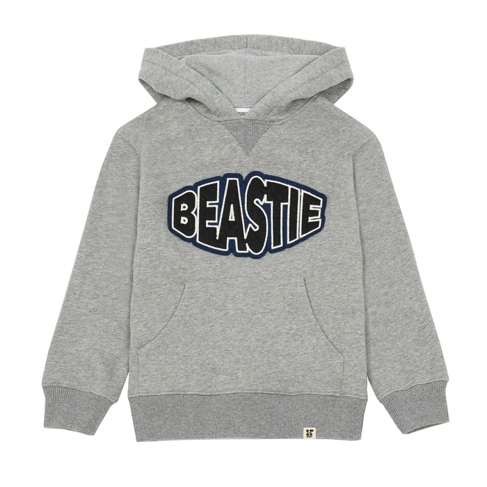 Hoodie Coton Organique Brodé Deacon Heather Grey