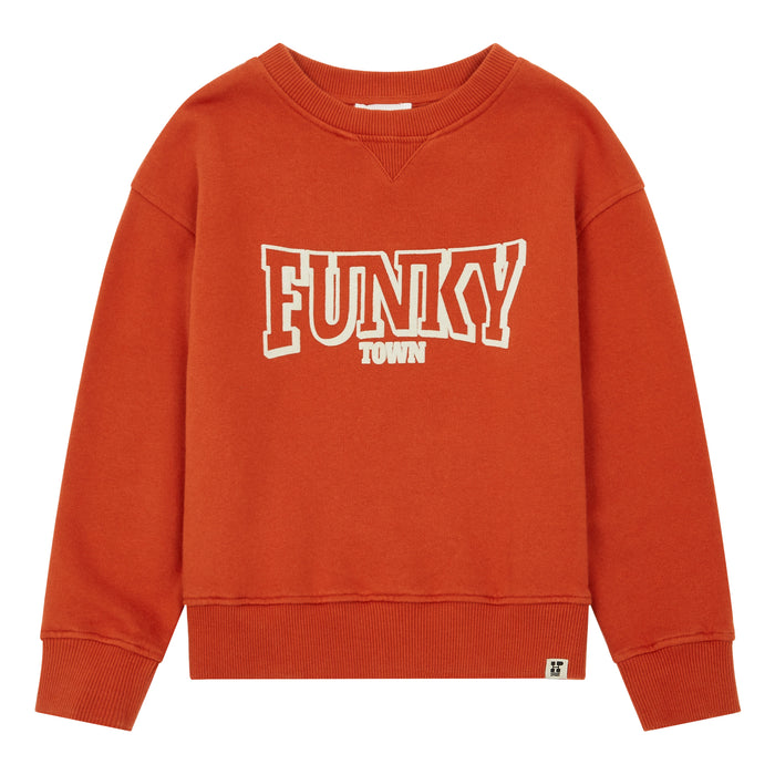 Sweat Coton Organique Funky Town Orange