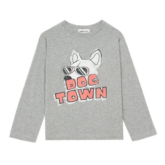 T-Shirts Coton Organique Dog Town Heather Grey