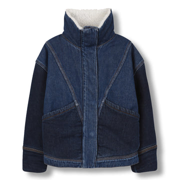 Flyer Blue Denim - Girl Woven Oversized Denim Jacket