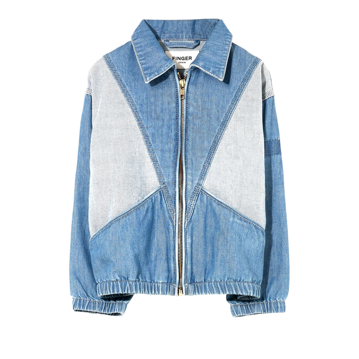 FLYNN Bleached Blue - Oversized Fit Denim Jacket