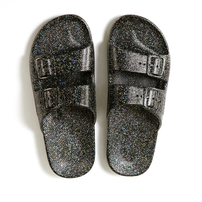 Slippers Freedom Moses Black Glitter