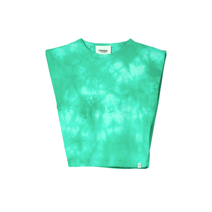 HALEY Milky Mint Tie & Dye - Sleeveless T Shirt