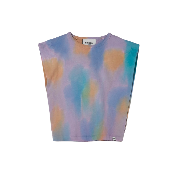 HALEY Rainbow Tie & Dye - Sleeveless T Shirt