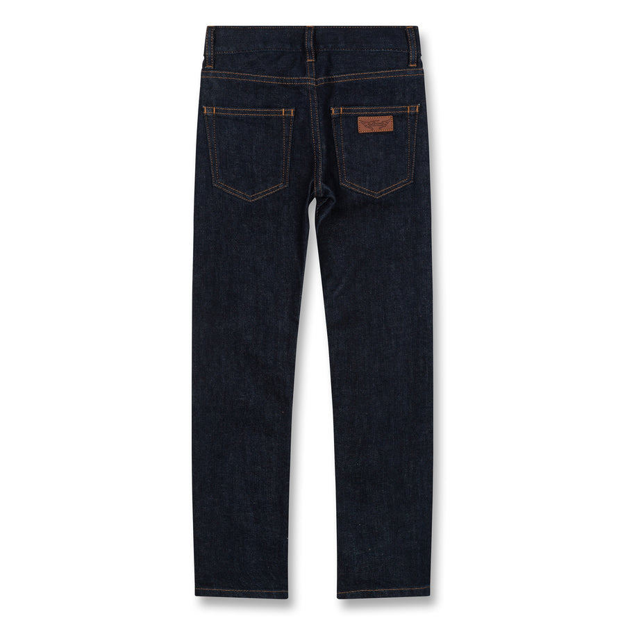 Icon Raw Denim Blue - Unisex Woven 5 Pocket Slim Fit Jeans