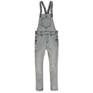 Ines Light Black - Girl Woven Denim Overall
