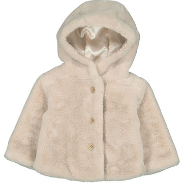 Jacket Lion Fake Fur Beige
