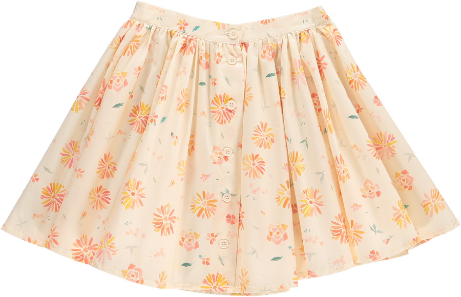 Flowers Skirt Vanilla