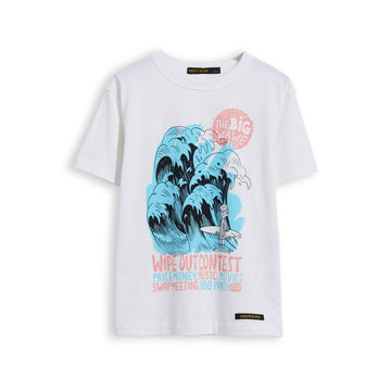 Kid Off White Wipe Out -  Short Sleevess Tee-Shirt
