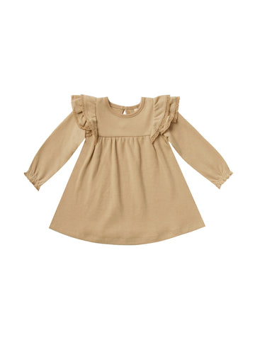 Longsleeve Flutter Dress Honey