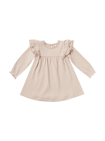 Longsleeve Flutter Dress Rose