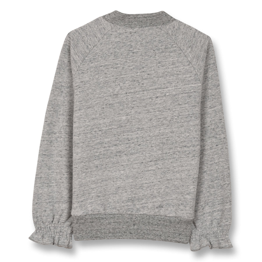 Millie Heather Grey College Heart - Girl Knitted Oversized Sweater